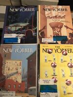 The New Yorker Magazine Lot Of 4 Magazines Have Labels & Stamped.  Lot 15
