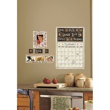 FAMILY FRIENDS DRY ERASE CALENDAR WALL DECALS Country Stickers NEW Kitchen Decor