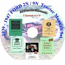 Ford 2n 9n Tractor Owner/Service/parts/ misc Manuals 5 in 1 Mailed CD