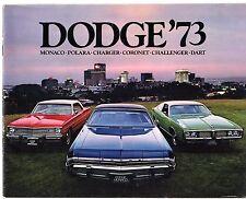 DODGE Challenger Dart Coronet CARICABATTERIE Polara MONACO 1973 USA opuscolo di mercato