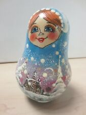 Musical Russian Christmas Doll Wobbly Chime 13.5cm High Doll C6