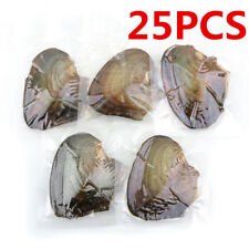25pcs Individually Wrapped Oysters whith Natural Pearl Holiday Gift