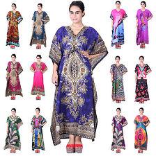 New Womens Kaftan Beach Wear Boho Indian Loose Summer Wear Free Size Dress