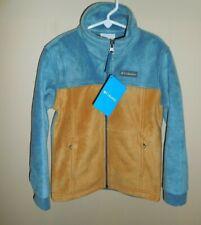 Columbia Steens Mt II Fleece Jacket Youth Boys XS Blue Brown New Coat