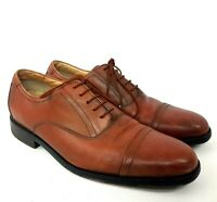 Clarks Mens Oxford UK 7.5 Formal Shoes Brown Leather Active Air Cap Toe