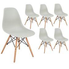 Lot de 6 chaises design tendance rétro eiffel bois chaise de salle à manger Gris