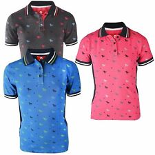 Venice Children Horse Riding Collared Country Patterned Casual Golf Polo T-Shirt