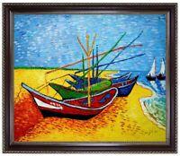 Ölbild Fischerboote am Strand Vincent van Gogh, Gemälde HANDGEMALT  ca 50x60cm