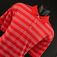 Men Nike Golf Tour Performance Dri Fit Red Stripe Polo Shirt Sz Large L Athletic