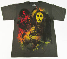 BOB MARLEY T-shirt Reggae Rasta Tuff Gong Tee Adult LARGE Olive Green New