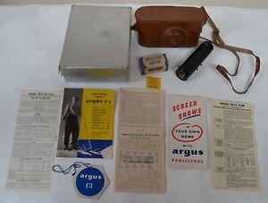 Vintage Argus C3 Camera f 3.5 50mm Lens Flash 681 Bulb Adapter Instructions