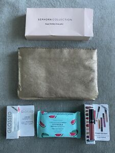SEPHORA Watermelon Cleansing Wipes, Glossed Lip Gloss, Cream Lip Stain~New w/bag