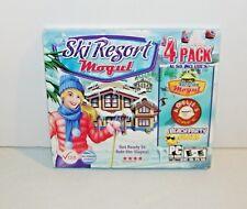 Ski Resort Mogul 4 Pack Skiiing Games (PC CD ROM, 2011) NEW Sealed