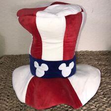 Disney Patriotic USA Flag Tall Top Hat Costume Adjustable