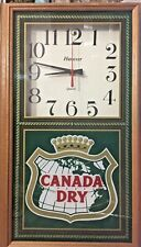 Vintage 90s Canada Dry Soda Advertising Clock - Works Well!