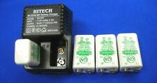 4 of Hitech 9v Rechargeable NiMh 170mAh(small size) + 2 Bank of 9v Charger*Sale