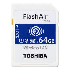 TOSHIBA 64GB FlashAir W-04 Wireless WiFi SDXC Memory Card UHS-I U3 Class10 4K