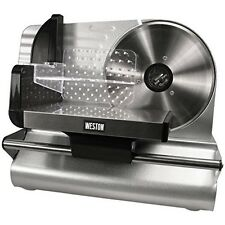 Electric Food Slicer 7.5-Inch Weston Meat Deli Cheese Blade Steel Kitchen Cutter