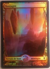 Montagne Full Art Zendikar PREMIUM / FOIL French Textless Mountain Magic Mtg 242