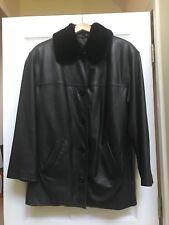 Winlit New York Woman's Black Genuine Leather Jacket Size Large