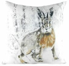 Christmas Hare Cushion - Evans Lichfield FILLED Cushion