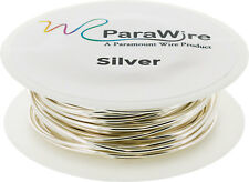 Copper Wire, Silver Plated Parawire 20ga Silver 40' Roll