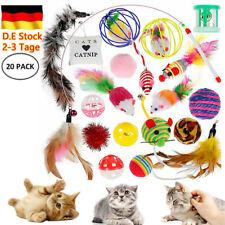 20X Katzenspielzeug Spielzeugset mit Bällen Mäusen Feder Katze Spielzeug Set DHL