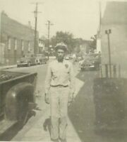 Milford Delaware Firestone Gas Station Attendant Uniform Leon Smith Photo
