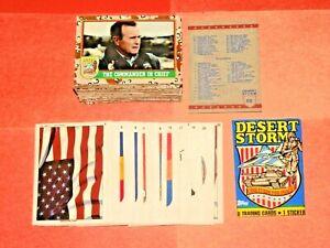 1991 Topps Desert Storm BASE US Military Card 88 CARD Set + INSERT STICKER SET!
