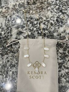 Preowned Kendra Scott Meadow Gold Collar Necklace In Ivory Pearl - Sold Out!