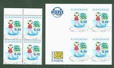 Slowakei Slovaquie 2009 - Weihnachten Eislaufen Noël - 623 + 624 ** im 4er-Block