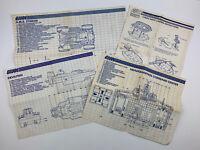 Vtg 80s GI Joe ARAH Blueprint Instruction Manual Lot Of 4- Headquarters Command