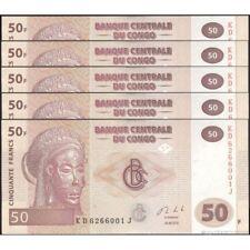 TWN - CONGO DEM. REP. 97A - 50 Francs 30/6/2013 UNC KD-J (HdM) DEALERS x 5