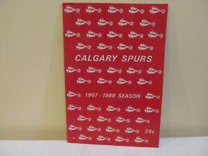 Vintage 1968 Calgary Spurs WSCHL Program