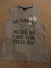 boys boy vest top no sleeves summer t-shirt age 8 years grey next aircommand new