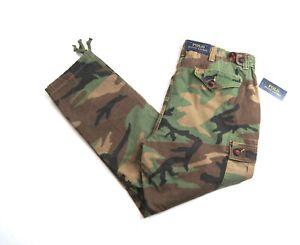 POLO RALPH LAUREN Men's Green Multi Camouflage Utility Cargo Pants NEW NWT