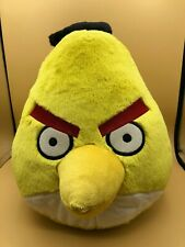 Large Angry Birds Yellow Bird Plush Soft Stuffed Toy Doll Commonwealth Toys 2010