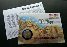USA Mount Rushmore 1991 FDC (coin cover) rare *half dollar *special cancellation