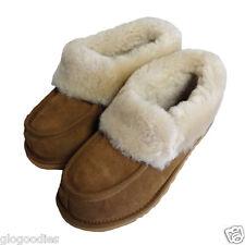 Señoras hardsole Castaño Piel de oveja Slipper Bota-British Piel de oveja Zapatillas