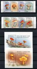 Barbuda 1997 Pilze Funghi Mushrooms Pflanzen Plants 1945-52 Block 282-283 MNH