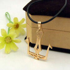 NEW Style Greek Mythology God Poseidon Golden Metal Trident Pendant Necklace