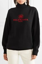 NWT Balenciaga Embroidered Wool & Cashmere Turtleneck Sweater 40FR/8US $1290.00