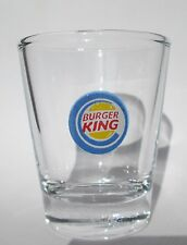 Burger King Restaurant Logo on Clear Shot Glass