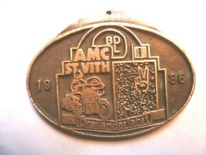 Bdl - AMC Auto Moto Club Saint Vith Belgium Badge Bronze Dreilander Fahit 1986
