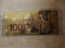 100 Dollars Polymer Banknote Gold Foil Novelty Note