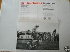 133- ST.ANTHONIS MOTOCROSS MINI  POSTER 1966 20 MAART JOEL ROBERT,SMITH,HALLMAN,