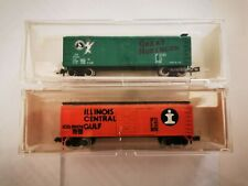 N Gauge. N Scale. 1/160.Boxcars Double set. Model Railroad. Illinios/Great north