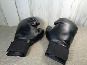 Kids Black Boxing Gloves Childrens Size Indoor Fun & Games Heavy Weight