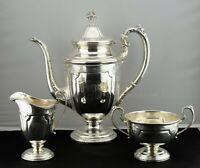 Towle Louis XIV Sterling Silver Coffee Pot, Sugar & Creamer Set
