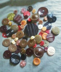 65+ Celluloid and other Vintage Plastic Buttons.